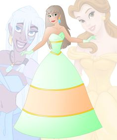 A new series in which I mix 2 disney princesses into 1 This is a mix of Belle and Kida, her name is Bailee Hope you like her Other combinations:  Anna + Ariel : willemijn1991.de...
