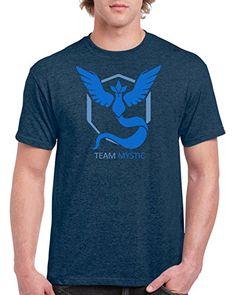 a6852962 Pokemon Go Team Mystic Dark Heather Blue Shirt (Large) Po... https