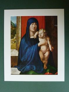 Hey, I found this really awesome Etsy listing at https://www.etsy.com/listing/163010337/vintage-print-of-madonna-child-by