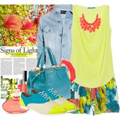 Love everything about this look! The mixing of colors, the purse, the shoes, the styling!!! If only i could pull this off...
