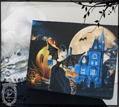 French Halloween Marie Antoinette Sociere Diabolique Midnight Masquerade Rendezvous Card Set papernosh.com