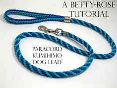 This listing is for a downloadable tutorial to make this fabulous dog lead. The tutorial will show you, step by step, using high resolution photos as well as detailed instructions how it is done. • Kumihimo Disk • Scissors • Needle and strong beading thread • 10mm x 50mm trigger clip • Large tube bead (inner diameter 10mm) • Smaller tube bead (inner diameter 6mm) • 7.6m Paracord 95 – Turquoise • 7.6m Paracord 95 – Royal Blue • Adhesive (E6000 recommended) Skill level: Beginner/intermed...