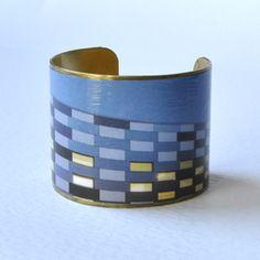 Geometric Blue Cuff