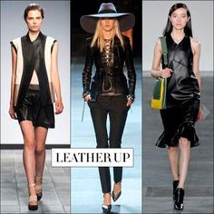 S/S 13 trend Leather Up, Formidable Artistry