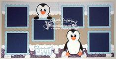 BLJ Graves Studio: Brrr! Penguin Scrapbook Pages