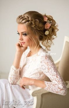Wedding Hairstyle : Picture Description Featured Hairstyle:lavish.pro;www.lavish.pro; Wedding hairstyle