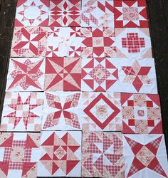 WIP - Red and White Quilt | Flickr - Photo Sharing!