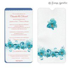 """Invitatii de nunta handmade """"Crini""""  Invitatie de nunta delicata in 2 straturi de hartie. Pentru suport am folosit un carton sidefat, iar textul este printat pe un carton texturat. Plicul este, de asemenea, in ton cu invitatia si fabricat din carton alb simplu sau texturat. El este inclus in pret si se livreaza impreuna cu invitatia propriu-zisa. Pentru ca totul sa fie perfect alegem impreuna culoarea si tipul cartonului astfel incat sa aveti un set de invitatii unice si originale."""