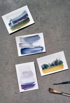 Gestural Landscape Paintings - Painted Stories