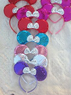 Minnie Mickey Mouse Ears Headbands Party Favors by MYBDPcreations