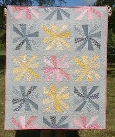 Doing Cartwheels. Free block pattern for a limited time only..
