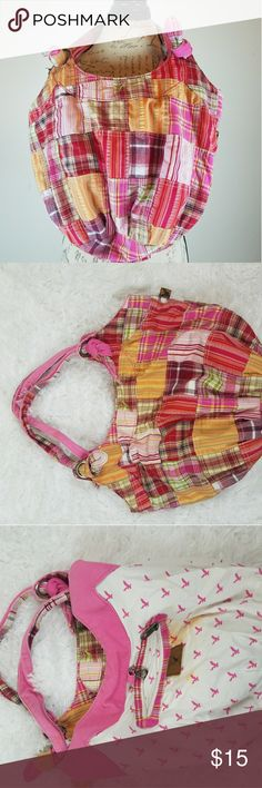 AMERICAN EAGLE PINK PLAID TOTE Pretty pink plaid color. Very solid stong material. Very durable bag. Excellent condition except for a few tiny yellow marks on the inside. american eagle Bags Totes