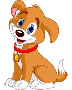 brown_white_clipart_dog_with_red_collar.jpg (311×386)
