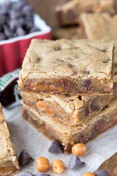 Easy Caramel Milky Way Blondies Recipe
