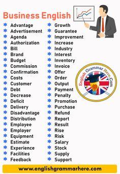 English Vocabulary List, English Writing Skills, English Grammar, English English, Academic Vocabulary, English Language Learning, Teaching English, English Teachers, German Language