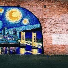 Painted mural in Sacramento, California