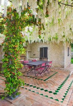Do Pergolas Provide Shade Pergola Canopy, Diy Pergola, Outdoor Rooms, Outdoor Living, Rustic Patio, Mediterranean Garden, Exterior Makeover, Terrace Garden, Pergola Plans