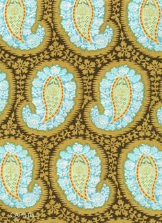 Amy Butler Fabric - Henna Paisley in Blue from Belle