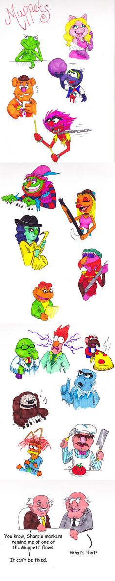 Muppets in Sharpies by ~Groovy-Gecko on deviantART