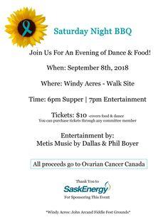 Ovarian Cancer Canada Walk of Hope-Saskatoon. Join the Ovarian Cancer Canada Walk of Hope in Saskatoon. Facebook Instagram, Friends Family, Bbq, Cancer, September, Community, Events, Entertaining, Barbecue