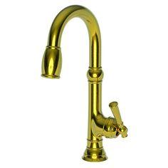 Newport Brass 2470-5223 Jacobean Prep Faucet with Metal Lever Handle
