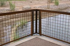 Welded wire mesh railing