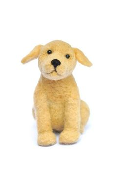 Needle Felted Puppy Dog - Wool Yellow Lab. $60.00, via Etsy. - love this happy little dog!
