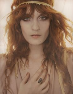 Siren Song: Florence Welch: Vogue UK, January 2012. Photographed by: Mario Testino        <3 Beautiful!