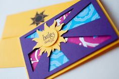TangledThemed Thank You Card by pennyanndesigns on Etsy. $6.00, via Etsy.