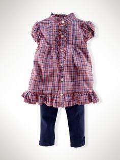 tartan top and leggings