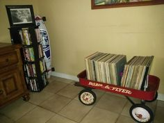 store your records in a wagon