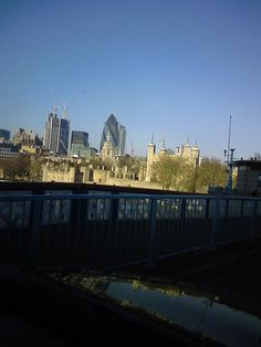 The City of London from Tower Bridge, with the Tower of London in the foreground.