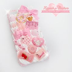 Com ❤ the cutest subscription box kawaii items ❤ ❤ ❤ декор. Sparkly Phone Cases, Girly Phone Cases, Diy Phone Case, Kawaii Phone Case, Decoden Phone Case, Silicone Phone Case, Rilakkuma, Kawaii Accessories, Phone Accessories