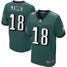 Nike NFL Jerseys Philadelphia Eagles 18 Jeremy Maclin green Elite Jerseys