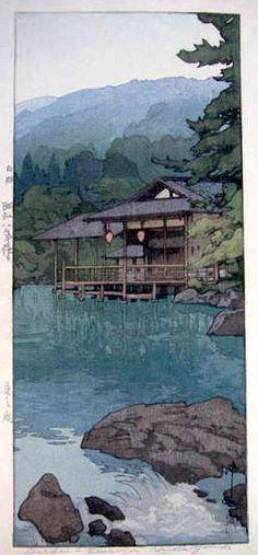 A Garden in Summer, by Yoshida Hiroshi, 1933.