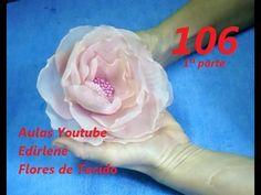 AULA 106: ROSA ABERTA DE ORGANZA PARA CABELOS (1ª parte)