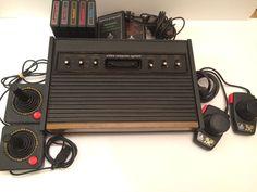 Atari 2600 original system bundle, 2 joysticks, 2 paddle switches, 7 games #Atari