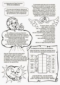 El Rincón de las Melli: La Catequesis del Papa Francisco: El Don de la Sab...