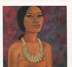 Mexican Art Olga Costa   Antique / Vintage by HeatherwoodArtPrints, $8.00