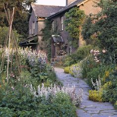 Beatrix Potter's Hilltop cottage and gardens in Near Sawrey, in the Lake District.
