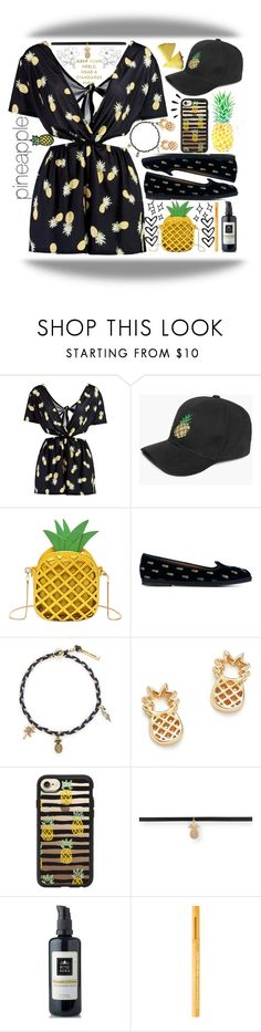 """pineapple chic"" by gately ❤ liked on Polyvore featuring Chanel, Boohoo, Aquazzura, Marc Jacobs, Bing Bang, Casetify, Ananas, Aéropostale, Old Navy and Rosemira"