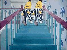 """Bananas in pajamas, are coming down the stairs. Bananas in pajamas are chasing teddy bears"". 90s Childhood, My Childhood Memories, Rugrats, Cinema Art, Banana In Pyjamas, Bananas And Pajamas, Kickin It Old School, Old Cartoons, Ol Days"