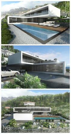 modern 350 m2 beachfront villa in Spain designed by NG architects: