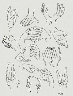 ・爪、関節、骨は意識して描いてます。半月時々 ・手首はアーチ、軽い三角意識して描いてます。 ・その他の線は手のひらの線をおおまかに描いて、手の甲のこぶしは基本人差し指と小指の所だけ意識して描いてます。(中指例外)
