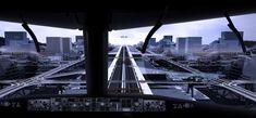 Simulação de um pouso na pista elevada, a partir da visão do cockpit. INOVAÇÕES DE ENGENHARIA E ARQUITETURA - ENGEFROM ENGENHARIA - http://www.engefrom-engenharia.com  