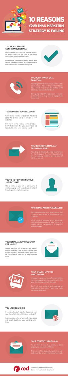 10 Reasons Your #EmailMarketing Strategy is Failing – & How to Fix It #Infographic