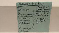 BULGUR AND PARSLEY #bulgur #parsley #mint #historical #mediterranean