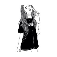 Image shared by dark_eyes on We Heart It: discover girl, outline, and drawing photos.