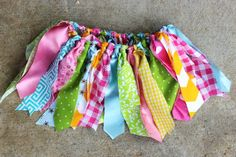 Infant Toddler Girls Fabric Scrap Tutu Skirt