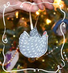 Free Chicken Ornaments!